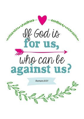 Poster 'If God is for us'