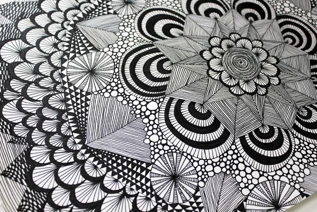 SØHESTEN: Mønstre  #zentagles #doodle