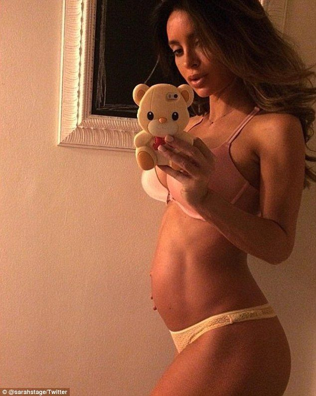 Just a reminder: Controversial model Sarah Stage took to Instagram on Tuesday to share this throwback picture of herself when she was nine months pregnant