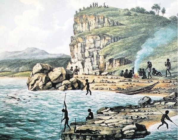 HISTORY: The Joseph Lycett painting of Aborigines.- Picture courtesy National Library of Australia
