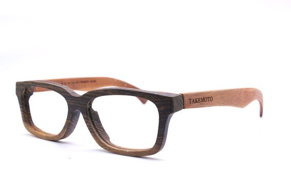 Defective TAKEMOTO AUTUMN gold wood  handmade prescription sunglasses eyeglasses