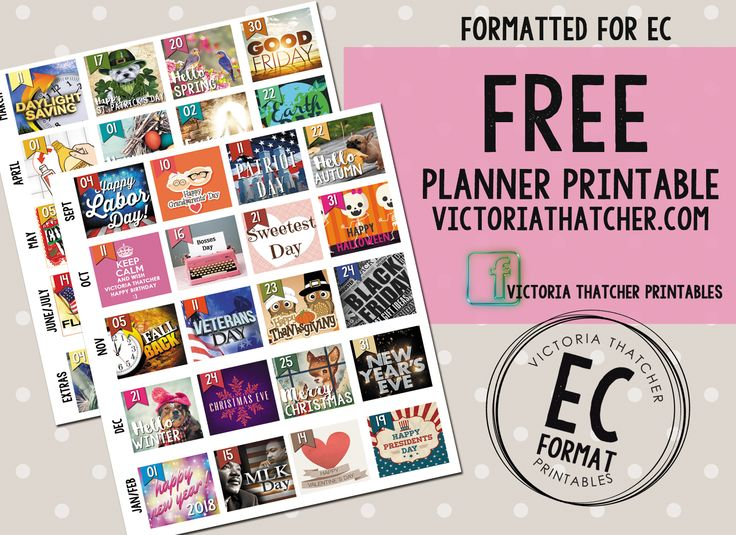 Free printable planner stickers for erin condren from victoria thatcher