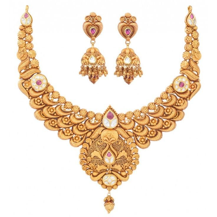 Indian Wedding Gold Necklace Jewellery Sets Gold Pendants: 17 Best Ideas About Indian Gold Jewellery On Pinterest