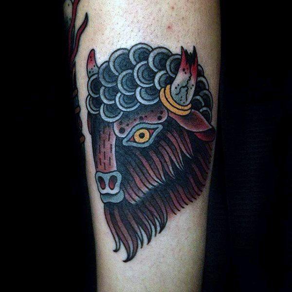Best 25 bison tattoo ideas on pinterest buffalo tattoo for Tattoos of buffaloes