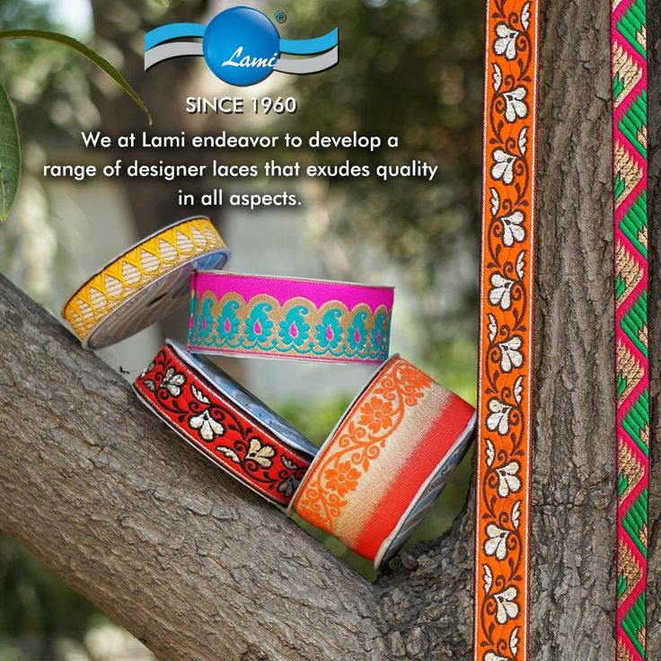 Lace Ribbons Trimmings  Lami (Lace Makers India)  Surat India  www.lami-india.com