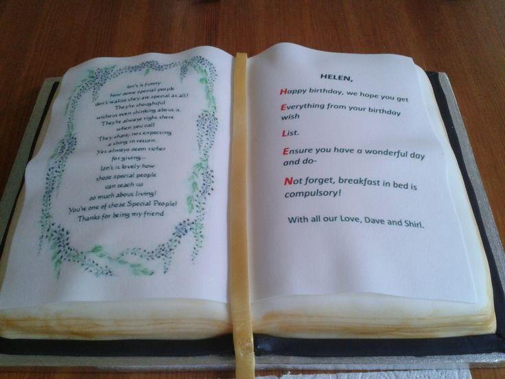 birthday cake book cake