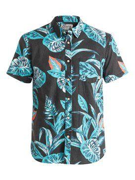 quiksilver, Aloe Short Sleeve Shirt, ALOE TARMAC (kta6)
