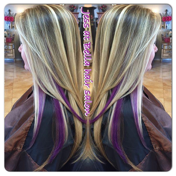 blonde hair with purple peekaboo highlights wwwimgkid