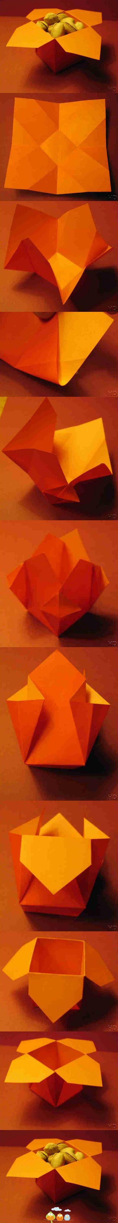 Aus einem Quadrat eine Schachtel falten