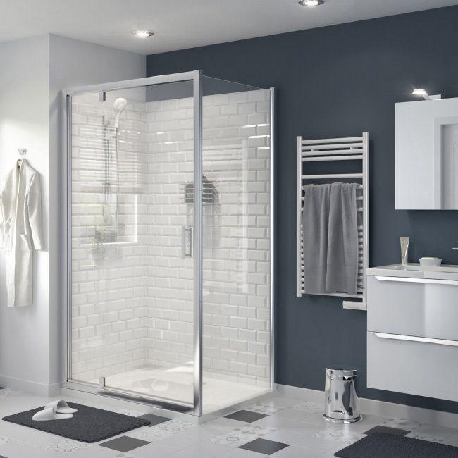 Drzwi Prysznicowe Wahadlowe Goodhome Beloya 120 Cm Chrom Transparentne Scianki I Drzwiczki Shower Doors Shower Panels Goodhome