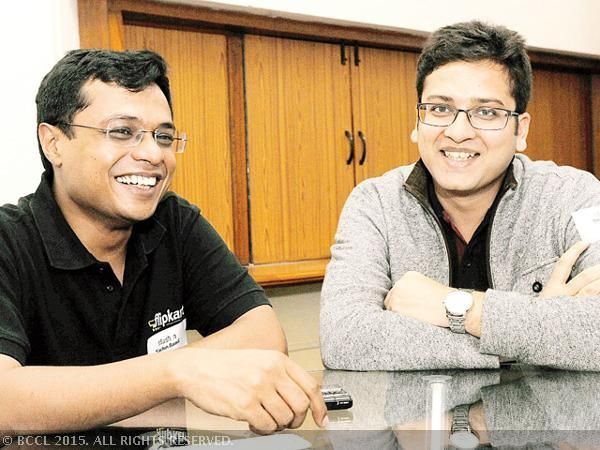 Hold on! Flipkart's Sachin Bansal and Binny Bansal will deliver your smartphones - The Economic Times