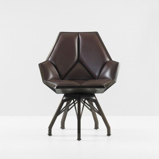Beautiful Baker Furniture Guest Chair design by Pierre Paulin after a design he originally did for Francois Mitterand.  This precise example sold at auction for $26,250.