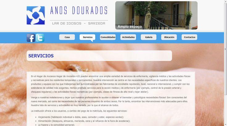 #disenoweb, #disenografico Residencia de ancianos, Años dorados, por Servicios-Xpo.com