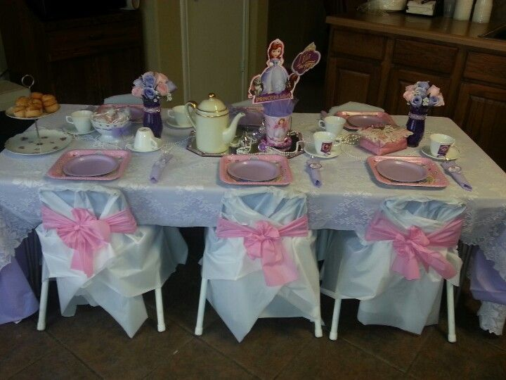 Sofia The First Tea Party Table Decorations Party