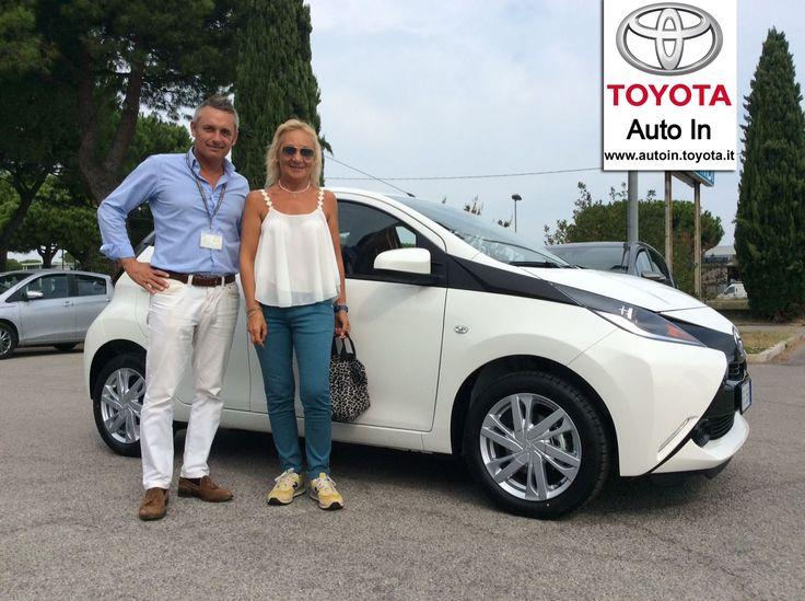 Oggi Loredana ha ritirato la sua nuova #Toyota #Aygo #MMT. Congratulazioni !!