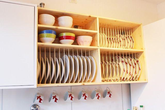 Schichtsalat: DIY Tellerregal