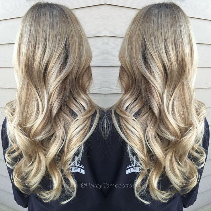 """No balayage highlights just a root touch up and a few lowlights!"""