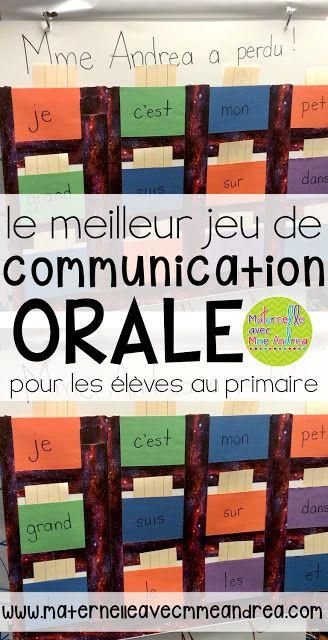 Le meilleur jeu de communication orale pour les élèves au primaire! Pour travailler la structure de phrase