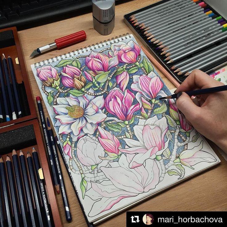 #Repost @mari_horbachova with @repostapp  #art #adultcoloringbook #coloringbook…