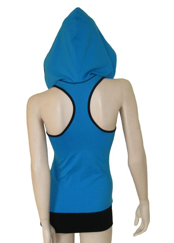 Tank top Racer Back hooded yoga top sport camisole by atelierPATH