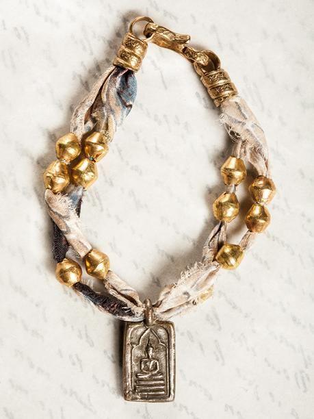 Bracelet - Thai charm on silk