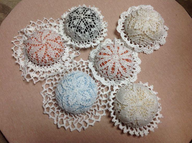 Kunststricken lace & Crochet / pincushion