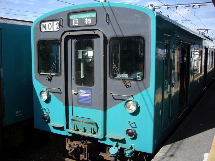 JR West 103 series train in Kakogawa line, Kakogawa station.