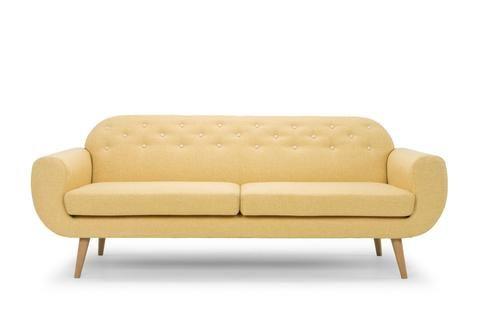 Retro 3 Seater Lounge (Yellow) - FREE SHIPPING AUSTRALIA WIDE