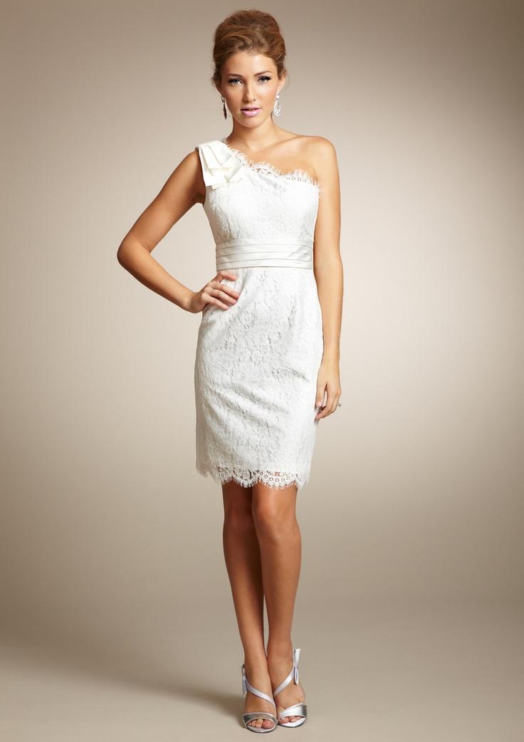 Eliza j asymmetrical one shoulder short dress will be for Dresses for wedding rehearsal dinner