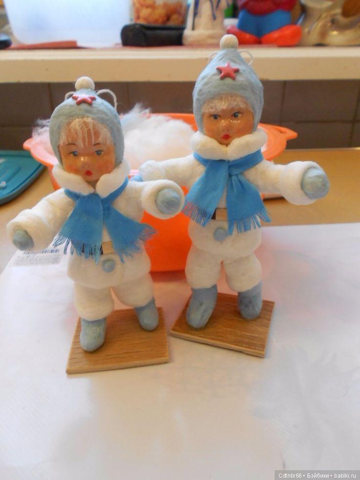"""МК: """"Ватная авторская Новогодняя игрушка, по старинным технологиям. От реставратора Светлой"""" / Игрушки из ваты своими руками / Бэйбики. Куклы фото. Одежда для кукол"""