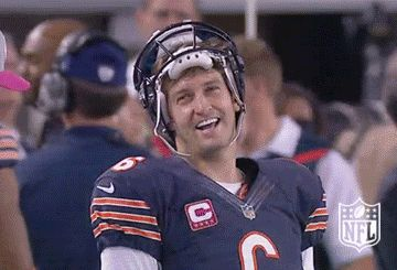 New party member! Tags: sports football lol nfl laughing laugh haha chicago bears jay cutler cutler