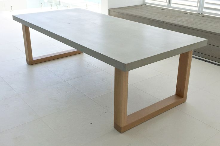 polished concrete dining table 3
