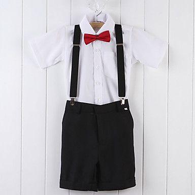 Vier Stücke Kurzarm-Ring-Träger Anzug Jungen Tuxedo Bekleidung Set – EUR € 31.67