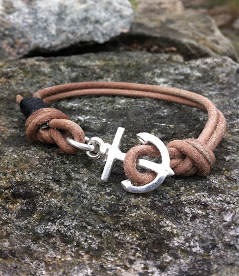 Anchors Bracelet part Two. I just made this order in new colors: natural and black leather. Really nice!