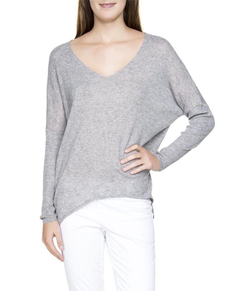 Oversized V-Neck Pullover