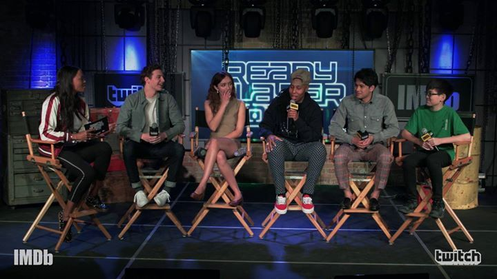 The High Five (Tye Sheridan, Olivia Cooke, Lena Waithe, Win Morisaki, and Philip Zhao) revealed what they were doing and where they were when they found out they had scored a role in Ready Player One Movie. #share #buy18eshop