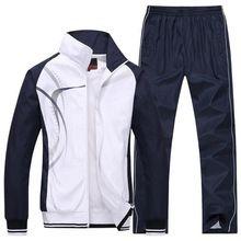 men\'s Sportswear Man Sports suits brand Tracksuits Outdoor jogging running hoodies and sweatshirts mens Jackets+Pants 2Pcs 5xl(China (Mainland))