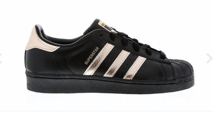 Adidas - Superstar Metallics Black Noir / Copper Cuivre Rose Gold ...