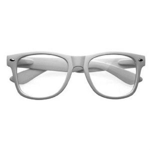 Sun Glasses White Wayfarer sunglasses Clear Nerd Glasses Vintage Shades