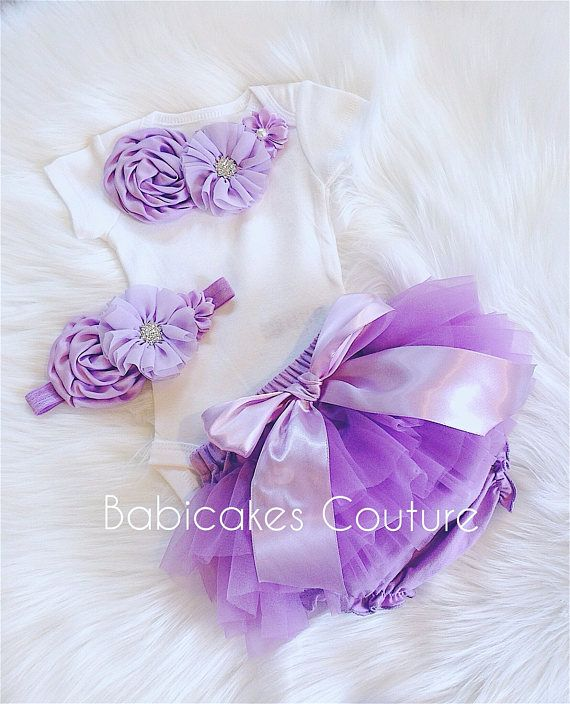 Lavender Tutu Summer Outfit at Babicakes Couture