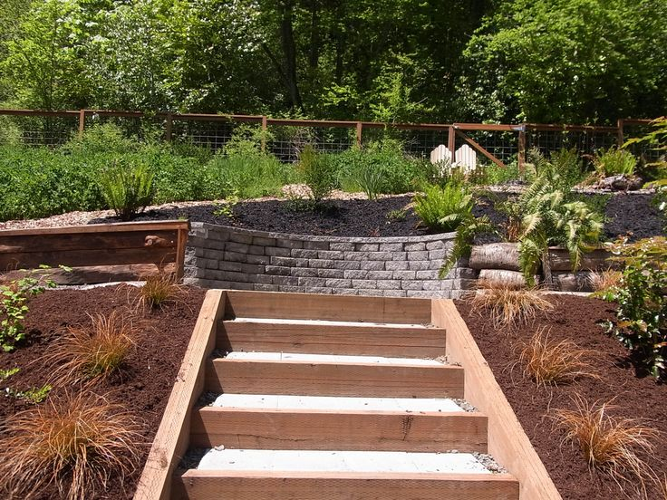 This Landscape Was Created For A Couple That Undertook A Large Effort To  Reclaim The Steep. Garden StepsSeating ...