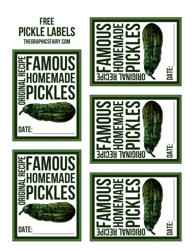 Free Pickle Canning Labels! - The Graphics Fairy