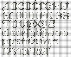 cross stitch elegant alphabet - Google Search