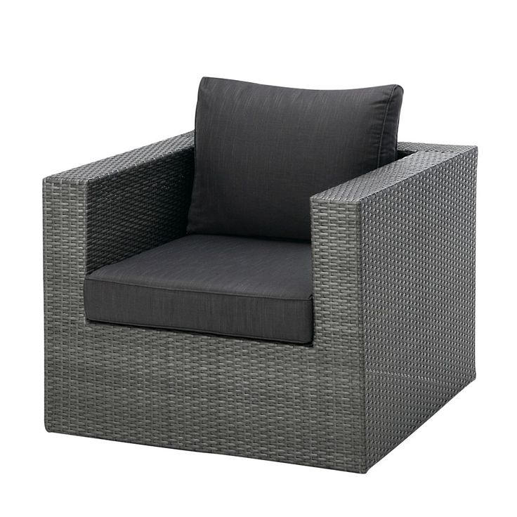 Unique Sessel Lounge Aruba inkl Sitz und R ckenpolster Aluminium Kunstfasergeflecht