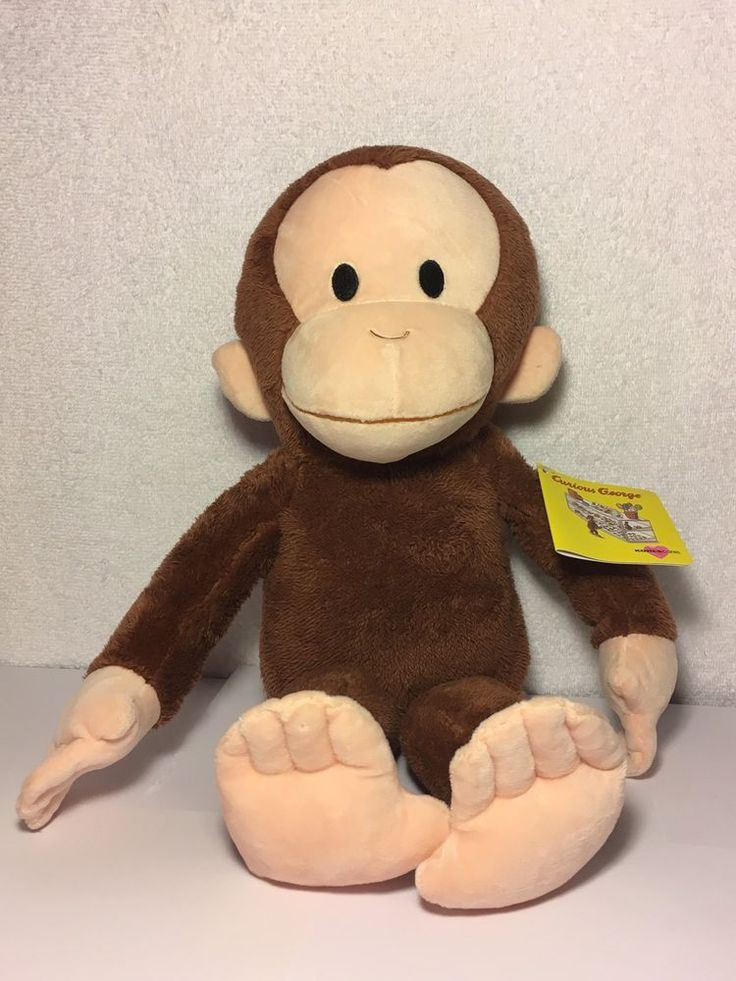 "Kohls Cares Curious George Plush 16"" Stuffed Animal Monkey New NWT  #KohlsCares"