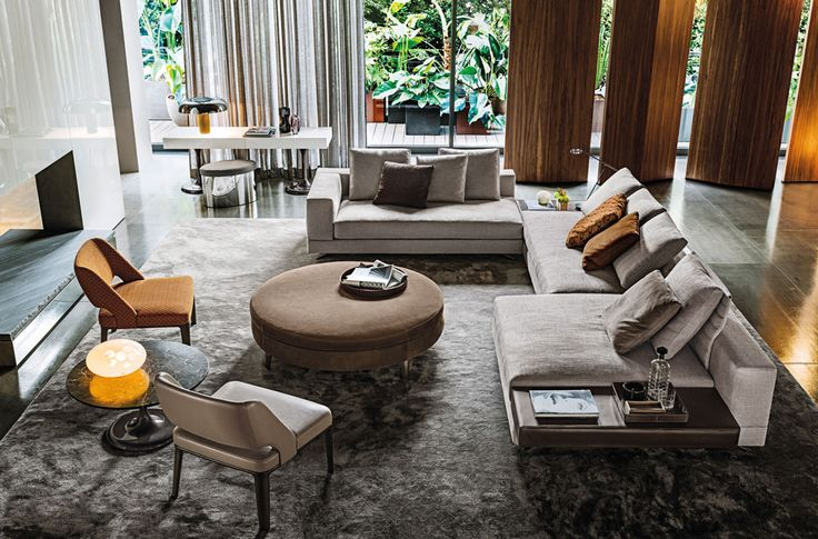 Minotti - love the sofa and the rug