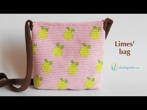Tapestry Crochet Bag with Limes' design - complete instructions - you can also go to her blog for print instructions - cute - once you learn, you can make any pattern you would like