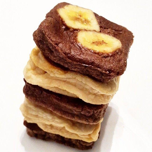 torre de tortitas cuadradas - eatcleanok