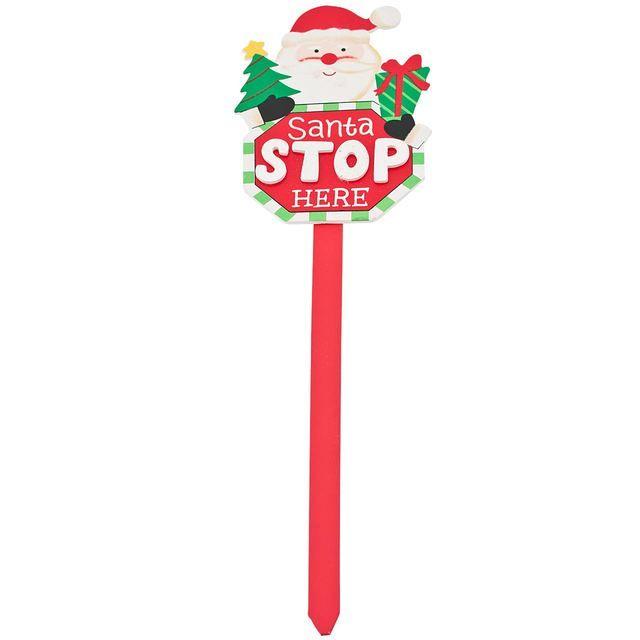 Christmas Santa Stop Here Sign http://www.ocado.com