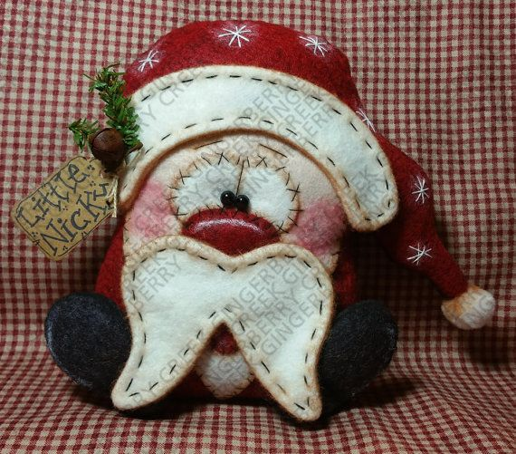 Pequeño Nicky Santa patrón 186 patrón de por GingerberryCreek